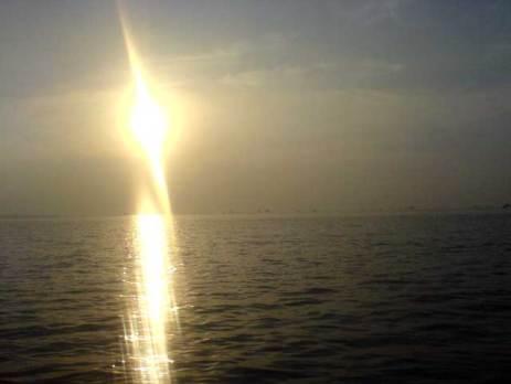 Sun Rising when fishing at bojonegara
